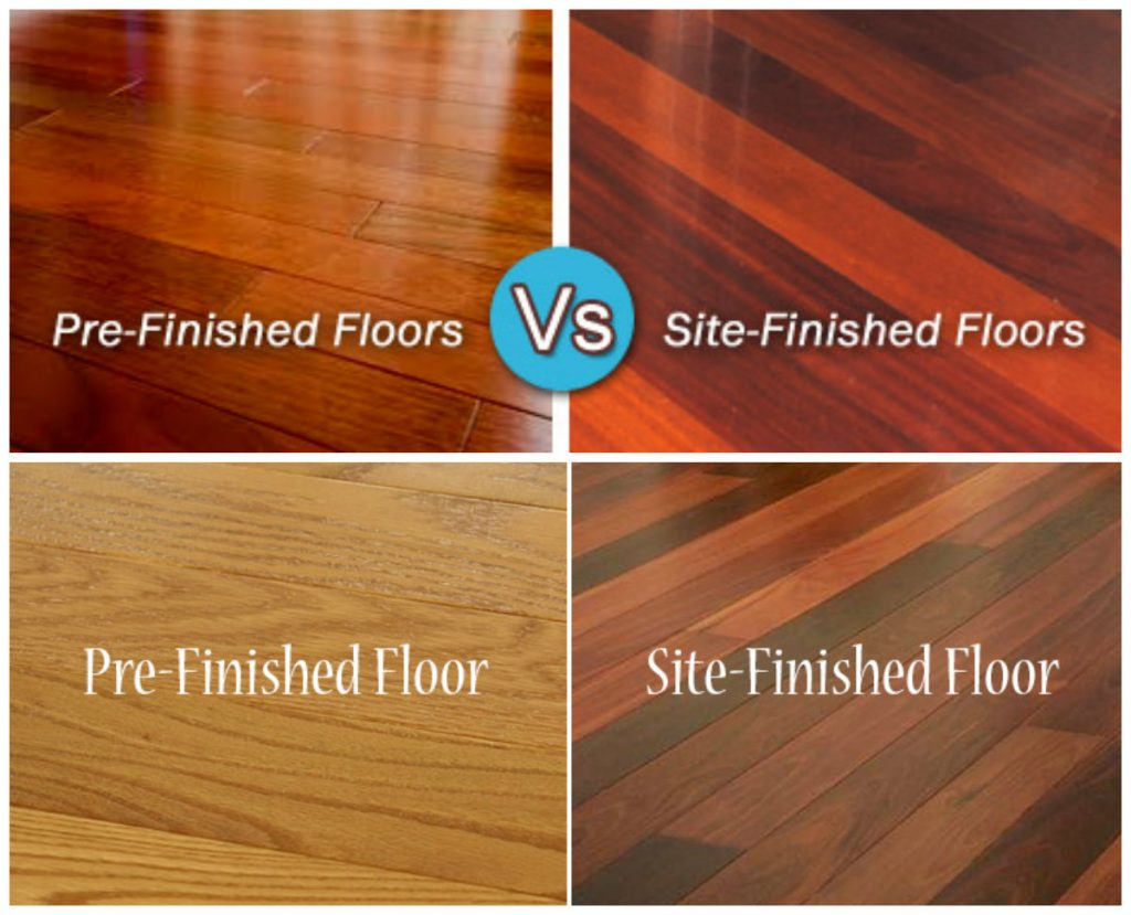 Prefinished vs site finished hardwood floors for Hardwood flooring prefinished vs unfinished
