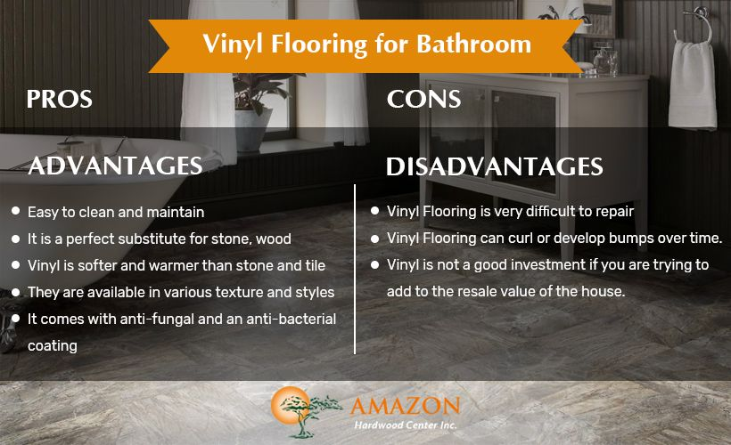 Pros And Cons Of Vinyl Flooring For Bathroom And Its